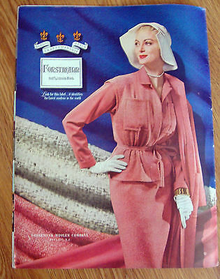 1954 Forstmann 100% Virgin Wool Fashion Ad