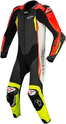 Alpinestars GP TECH v2 Suit Tech-Air Compatible (Black/White/Flo Red/Flo Yellow)