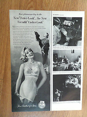 1953 Life Formfit Bra Girdle Ad For A Sweetheart of a Figure