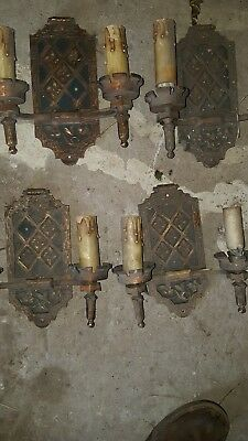 Antique Wall Sconce Vintage Light Fixture Art Deco, rare nice set