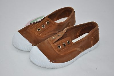 CIENTA Girls Moca Brown Sneakers Loafers Flats Mocs size 28/30/34/35 (4360) $38