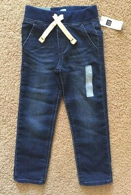 Toddler Boy Size 5 5T Baby Gap Pull On Banded Knit Denim Jogger Jeans