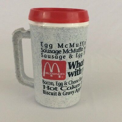 Vintage McDonald's Breakfast Menu Coffee Mug Collectible 12oz Cup 1992 McMuffin