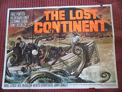 LOST CONTINENT UK Quad, Hammer Horror, Eric Porter, Suzanne Leigh