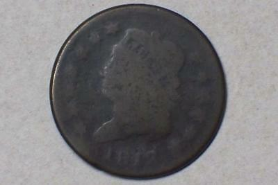 1812 LARGE CENT CLASSIC HEAD ALMOST GOOD CONDITION #4344 glcw