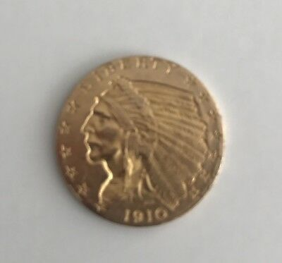 1910 $2.50 Gold Indian Head Coin