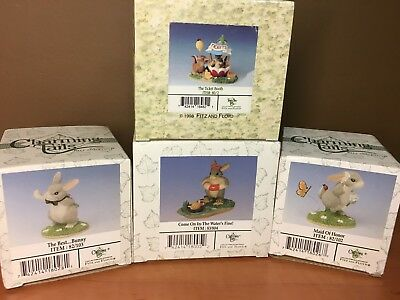 Charming Tails 4 Figurines: Best Man, Maid of Honor, Come on In.., Ticket Booth