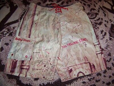 THE ROLLING STONES BEGGARS BANQUET Dragonfly Surf Swim Suit Board Shorts 34 - 35