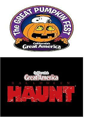 CA's Great America Halloween Haunt $15 off/Great Pumpkin Fest $29 off Adult