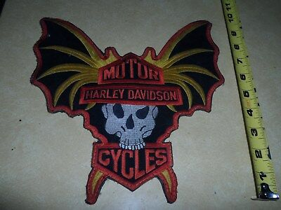 Vintage Harley Davidson BAT WING  patch XL Extremely Rare