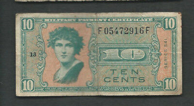 United States (USA) MPC 1958 10 Cents Series 541 P M37 Circulated