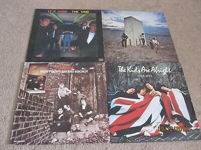 LOT OF 4 THE WHO VINYL LPs ITS HARD THE KIDS ARE ALRIGHT WHOS NEXT MEATY BEATY