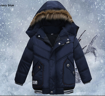 Winter Jacket for boys 2-5T, Outerwear Coat, Hooded Jacket, Kids Warm Cotton-Pad