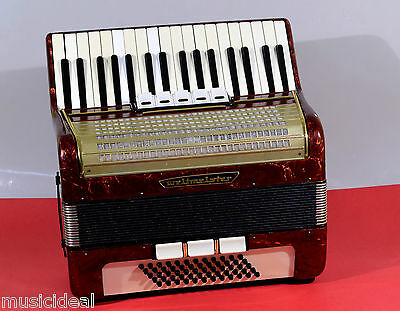 VINTAGE GERMAN TOP PIANO ACCORDION WELTMEISTER 60 bass,8 sw.~ Petrof MUSIC STORE