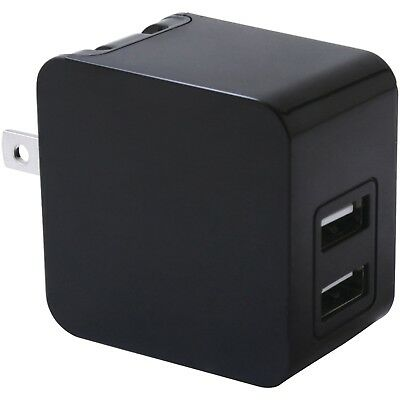 3.4 Amp Dual USB Port Wall Charger For Multiple Devices & Foldable Plug Blades