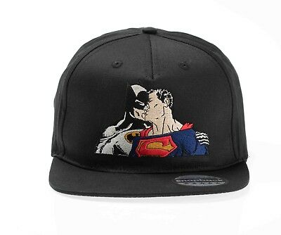 Funny Batman Superman Kissing Gay Pride Snapback Hat Cap Embroidered Caps Hats