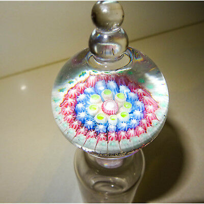 Glass Millefiori (Thousand Flowers) Bottle Stopper  - Paperweight