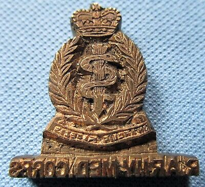 Vintage British Militaria Printing Block-Victorian WWI? Royal Army Medical Corps