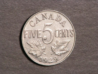 CANADA 1929 5 Cents XF