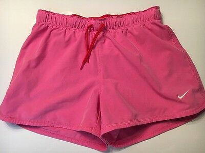 Nike Girls Large L Athletic Running Soccer Sports Compression Lined Shorts