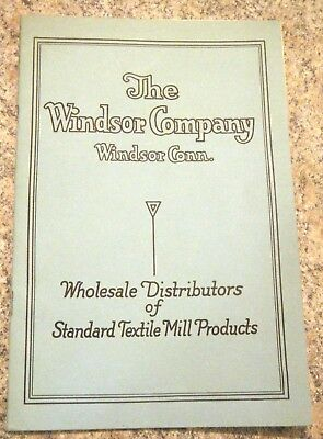 Windsor Co CT 1925 Textile Mill Catalog Prices Towels Hosiery Wamsutta Nainsook