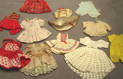 """Lot of Vintage Clothes for Ginny, Muffie & Friends - 7"""" - 8"""" Tall"""