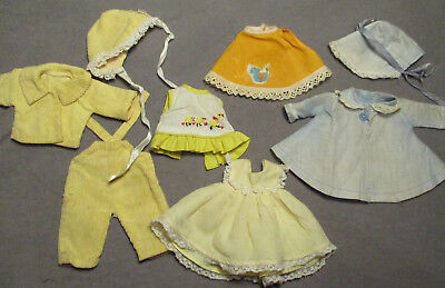 """Lot of Vintage Clothes for Ginnette, Baby Ginger & Friends - 7"""" - 8"""" Tall"""