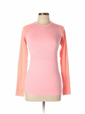 Lululemon Athletica Size 6 Swiftly Tech Long Sleeve Crew Top pink coral