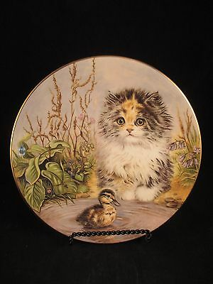 Just Ducky 3rd Kitten Encounters Cat Plate Collection Royal Worcester