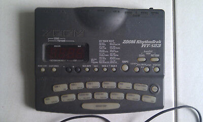 Zoom RT-123 RhytmTrak Drum Machine - Great Condition with manual & 9v adapter