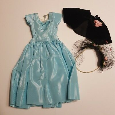 Vintage CISSY 3pc Blue DRESS Bolero Hat Original Tagged Madame Alexander MINT