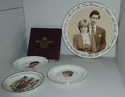 Bulk lot Charles & Diana plates Royal Albert , Wood & Sons , Royal Kent