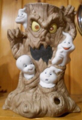 Vintage1986 Casper the Friendly Ghost Haunted Tree Candle Holder Halloween Decor