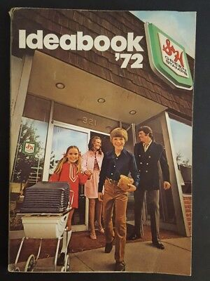 Vintage 1972 Sperry & Hutchinson S & H Green Stamps IDEA BOOK catalog w/ Stamps