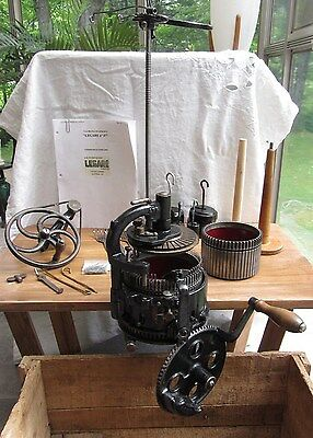 Vintage RARE P.T. Legare 400 SOCK KNITTING MACHINE 2 CYL 54/72 1 Dial Ribber 36