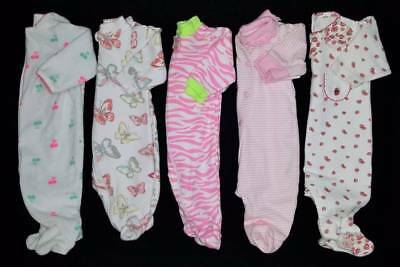 Baby Girls Size Newborn Fall Sleeper Clothes Lot Free Ship!