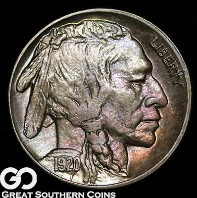1920-S Buffalo Nickel, PQ Color and Strike, Near Gem BU+++, Ultra RARE This Nice