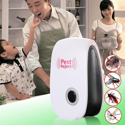 Electronic Pest Repeller Ultrasonic Rejector Mouse Bug Mosquito Insect EU plug