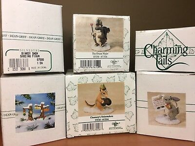 Charming Tails 5 Figurines87561, 871696, 871580,87/554, 87/556