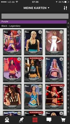 WWE Topps Slam Digital Black Base Women Collection 61 Cards