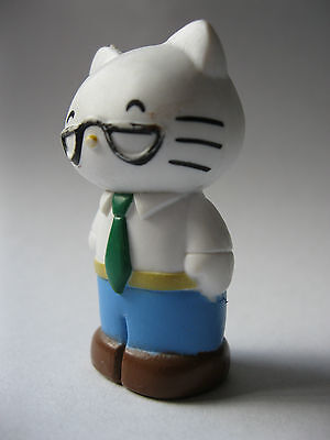 GEORGE WHITE Hello Kitty's Dad stampd Sanrio 2012 PVC Figure about 2 inches high