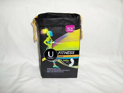 U by Kotex Fitness Liners - 40 Wrapped Regular Pantiliners
