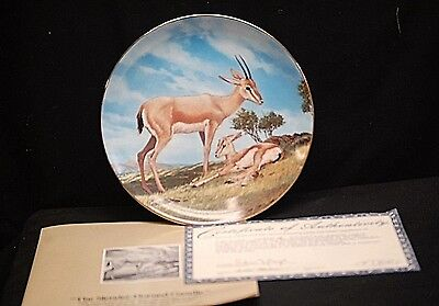 The Slender Horned Gazelle Collector Plate The Endangered Species by W.S. George