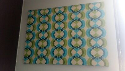 60s 70s funky retro vintage wall art geometric fabric
