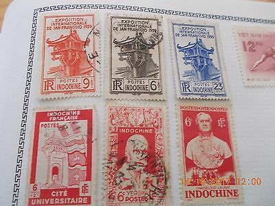 lot de timbres INDOCHINE  .état impeccable