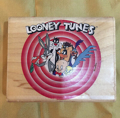 Vintage 1992 New Looney Tunes Rubber Stamp