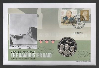 2008 Jersey £5 Coin & Stamp Commemorative Cover The Dambuster Raid