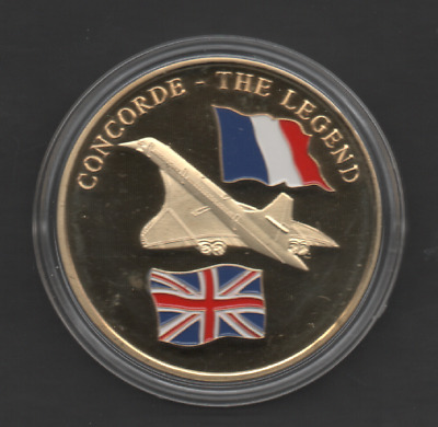 """History Of Aviation """"concorde - The Legend"""" Milestones In Flight Proof Coin"""