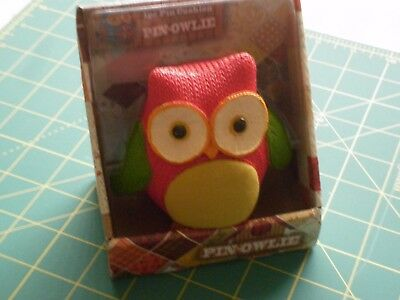Pin - Owlie Pin Cushion - New In Box - RED -