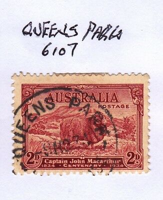 *WA POSTMARKS.QUEENS PARK.Type B29.On 2d commem.Rated3.*